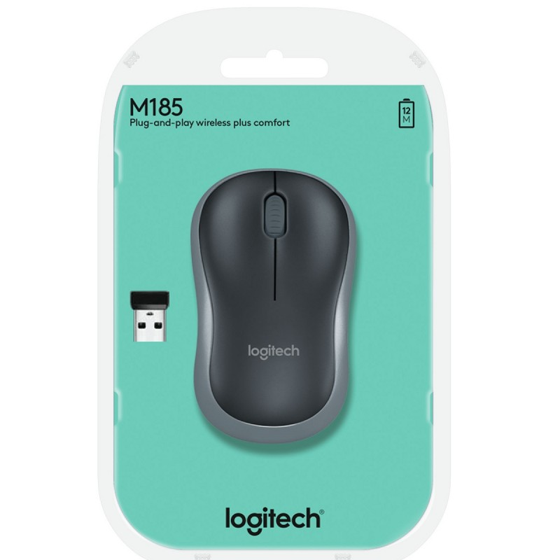 Logitech - Mouse Inalámbrico M185 para Windows y Mac Os - Gris al pormayor