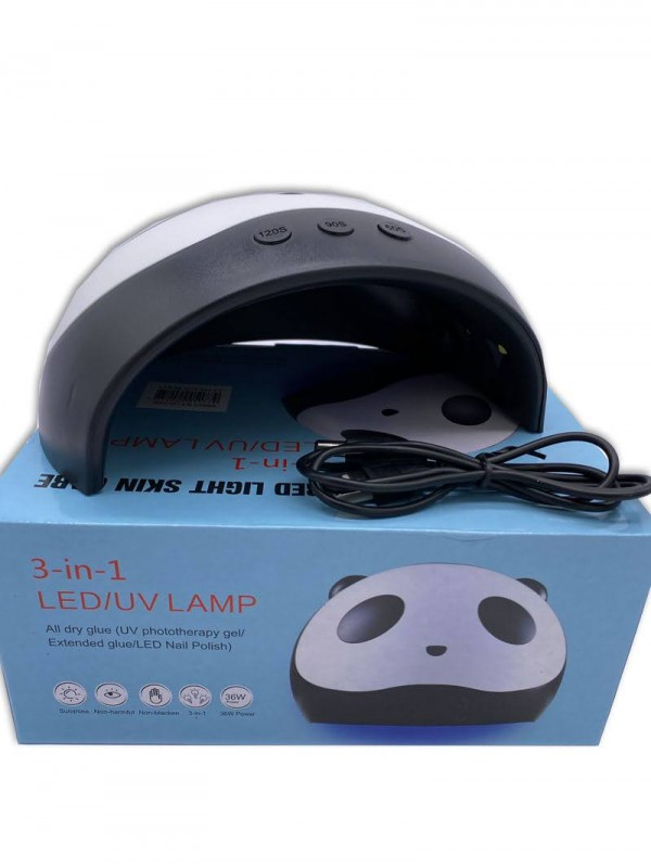 lampara de uñas uv led panda de 36w al pormayor