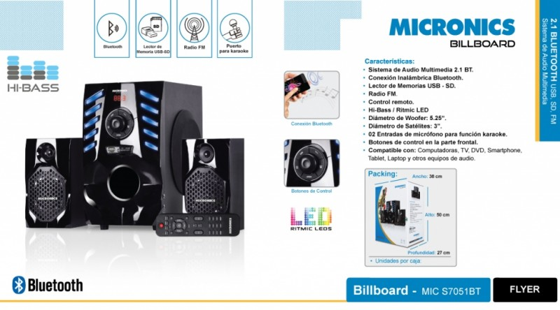 SISTEMA DE AUDIO 21 MICRONICS BILLBOARD - Pormayor.pe