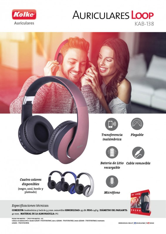 AURICULAR LOOP BLUETOOTH KAB-138 KOLKE al pormayor